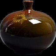 Weller Pottery Vase, 1896-1924 Louwelsa Daisy Banjo Vase #363 5