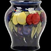 Moorcroft Pottery Vase, 1928-49 Blue Wisteria Plum Vase Artist Signed Walter Moorcroft