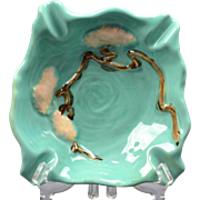 Roseville Pottery Ash Receiver, 1949 Jade Green Ming Tree Ash Receiver #559