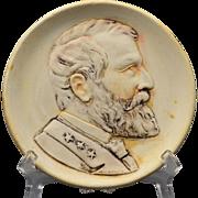 Weller Pottery, St Louis World's Fair 1904 Ulysses S Grant Plaque Souvenier