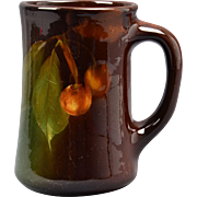Weller Pottery Mug, 1896-1924 Louwelsa Peaches Mug #081