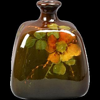 Ruko Pottery Ink Well, 1903-12 Rose Ink Well Vase #1465 by Albert Radford Ruko