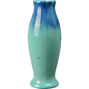 Muncie Pottery Vase, 1930's Blue Glaze Vase #225 -8 marked I