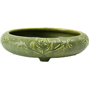Rookwood Pottery Bowl, 1920 Green Rose Bowl #2171