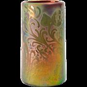 Weller Pottery Vase, 1902-07 Sicard Cylinder Vase