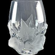 Lalique Crystal Vase, 1980 Hedera Ivy Vase
