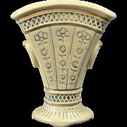 Weller Pottery Vase, 1915 Creamware Fan Vase