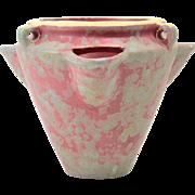 Burley Winter Pottery Vase, 1920's Gray Purple Hanging Strawberry Pot