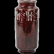 Rookwood Pottery Vase, 1935 Oxblood Art Deco Vase #6542