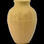Rookwood Pottery Vase, 1934 Mustard Native American Geometric Vase #6464