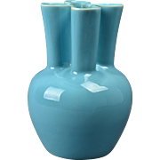 Rookwood Pottery Vase, 1949 Gloss Light Blue Pinch MCM Vase #6953
