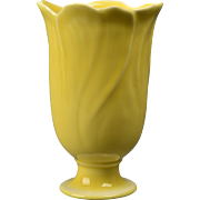 Rookwood Pottery Vase, 1948 Gloss Yellow Floral Vase #6969