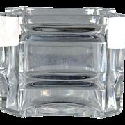 Baccarat Crystal Bowl, Large Cube Bowl