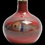 Pillin Pottery Vase, Swimming Fish Pink Mini Vase