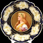 G.Demartine & Cie Limoges France, Limoges Plate Blonde Maiden