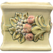 Weller Pottery Planter, 1914-1920's Roma Small Mini Square Planter