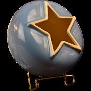 Weller Pottery Bowl, 1934-37 Atlas Blue Bowl Vase C-3