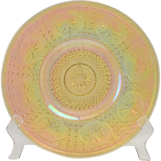 Imperial Glass Plate, 1930's Clambroth Star Medallion Plate