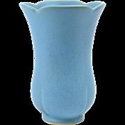 Weller Pottery Vase, 1937 Dorland Blue Vase