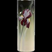 Weller Pottery Vase, 1898-1918 Eocean Iris Cylinder Pinched Vase Marie Rauchfuss