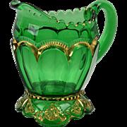 EAPG Riverside Glass Works Creamer, 1899 Green Empress Creamer