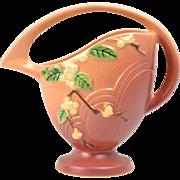 Roseville Pottery Basket, 1947 Pink Snowberry Basket 18k-8