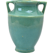 Zanesville Stoneware Pottery 1920's Seacrest Green Vase #792