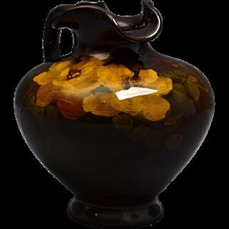 Rookwood Pottery Ewer, 1899 Standard Glaze Apple Blossoms Ewer #498D Edward Diers