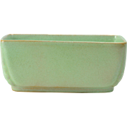 Frankoma Pottery 1933-54 Prairie Green Oblong Planter #14 Ada clay