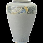 Roseville Pottery Vase, 1925 Victorian Art Pottery Gray Vase #263-10