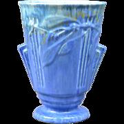 Roseville Pottery Vase, 1934 Tourmaline Trial Glaze Laurel Flaring Vase #673