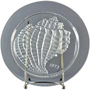 "Lalique Crystal Annual Plate, 1972 Conquillage ""Shell"" Annual Plate"