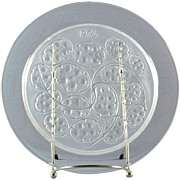 "Lalique Crystal Annual Plate, 1974 Sous d'Argent ""Silver Pennies"" Annual Plate"