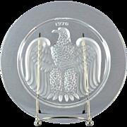 Lalique Crystal Annual Plate, 1976 Bicentennial Aigle Eagle Annual Plate