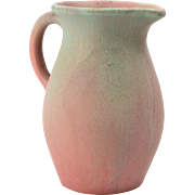 Muncie Pottery Pitcher, 1930's Green over Lilac Pitcher #428