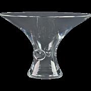 Steuben Crystal Vase, Steuben 1940's Signet Medium Bouquet Flared Vase #7985 George Thompson