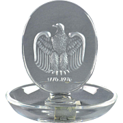 Lalique Crystal Bowl, pre-1978 Bicentennial Eagle Pin Dish