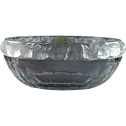 Lalique Crystal Bowl, pre-1978 Mesanges Sparrow Salad Bowl