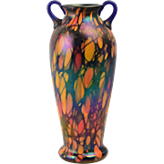 Fenton Glass 1925 Mosaic 2 Handle Vase #3006-11