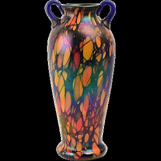 Fenton Glass 1925 Mosaic 2 Handle Vase #3006-11