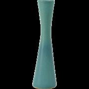 Van Briggle Pottery Vase, 1940s - 60s Ming Blue Tall Bud Vase #160B