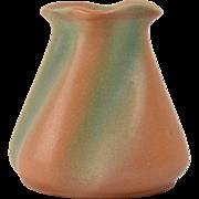 Brush Pottery Vase, 1930-40 Glo Art Orange Green Vase #756