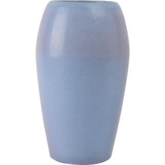 Marblehead Pottery Vase, 1908-36 Gray Mat Cylinder Vase #13 8 1/2 inches tall