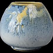 Rookwood Pottery Vase, 1957 Vista Blue Round Vase #6514E