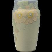 Weller Pottery Vase, 1920 - 30's Hudson Light Roses Vase
