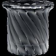 Lalique Crystal Votive, pre-1978 Frosted Crystal Symrne Votive Table Lighter