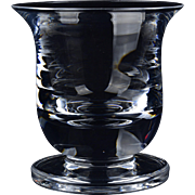 Val St Lambert Votive, Footed Crystal Votive