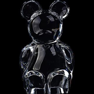 Orrefors Crystal Art Glass Teddy Bear Figure Paperweight