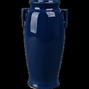 Roseville Pottery 1916 Rosecraft Color Blue Vase #244-6