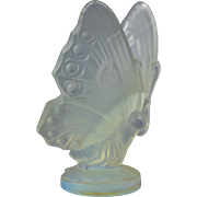 Sabino Opalescent Crystal 1920-30 Butterfly Hood Ornament